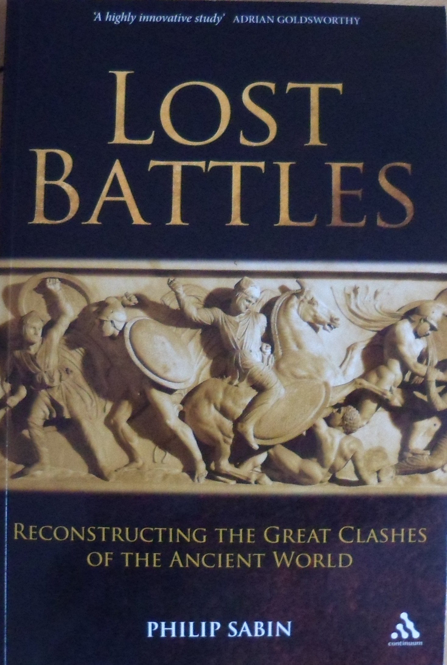 """The cover of """"lost battles"""" by Philip Sabin"""