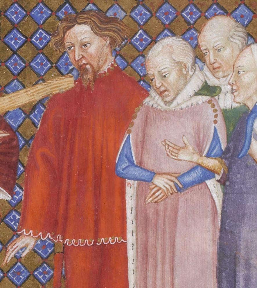 BNF Latin 757 folio 355r (painted in Milan, circa 1385-1390, school of Giovanni di Benedetto da Como) http://gallica.bnf.fr/ark:/12148/btv1b8470209d/f713.item