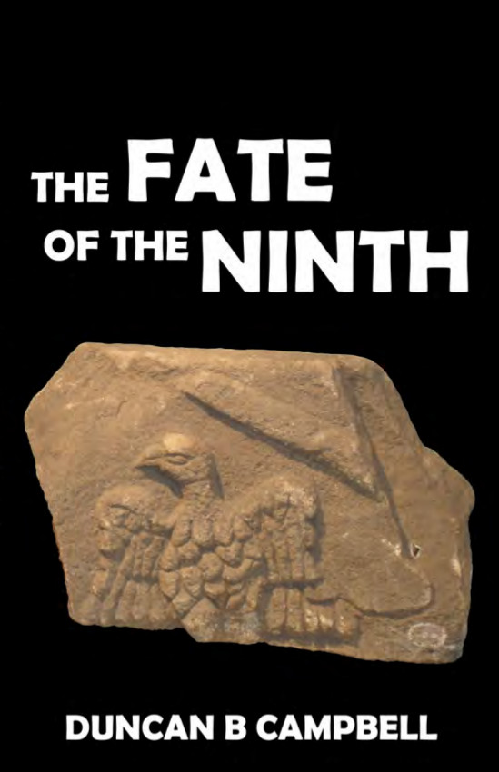 A book cover with the title in black and a fragment of a Roman sculpture of an eagle below it