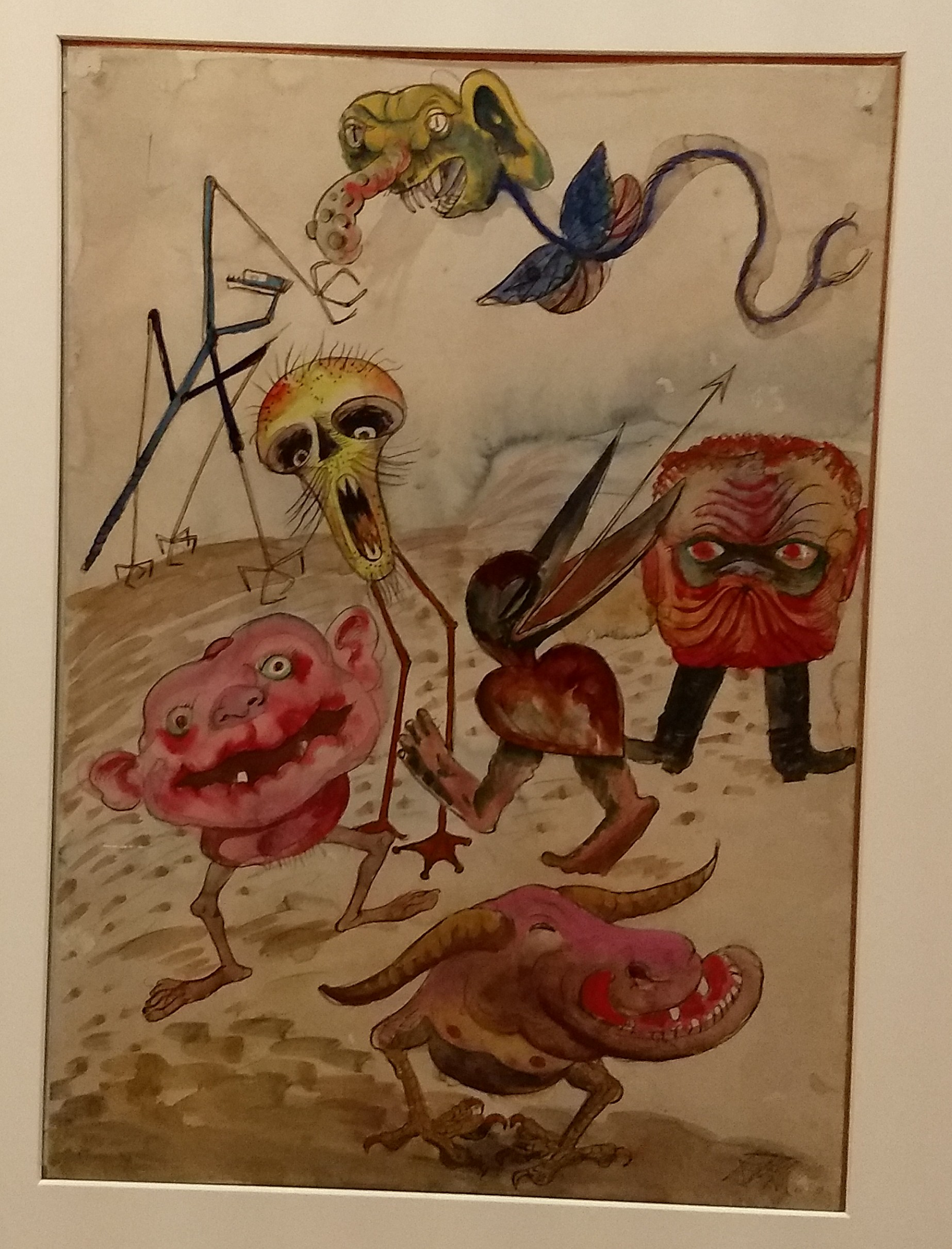 Colourful monsters with misshapen, oversized heads, spindly legs, and no arms or bodies